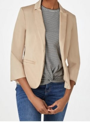 Tally Weijl Short Blazer cream-camel cotton