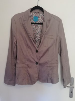 Cool Code Blazer de tela de sudadera marrón claro-beige
