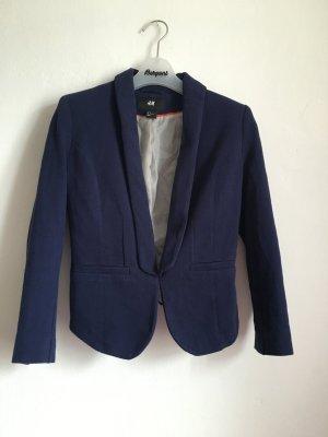 Blazer blau chloé strukturiert tailliert S 36 Jacke Anzug Business H&M