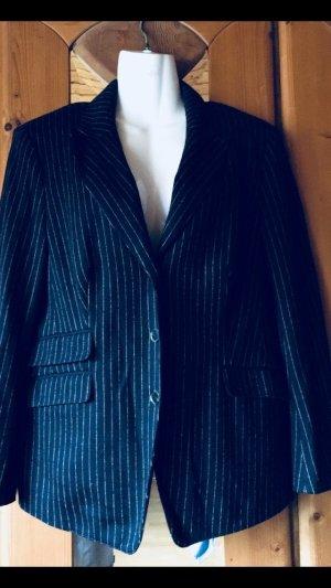 Blazer blau grau gestreift Größe 42