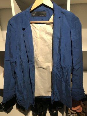 Zara Basic Blazer Boyfriend azul