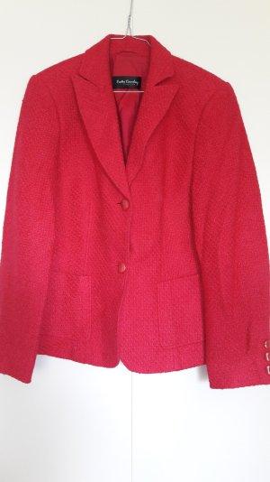 Blazer Bouclé pink Struktur mit Wolle Gr. 40