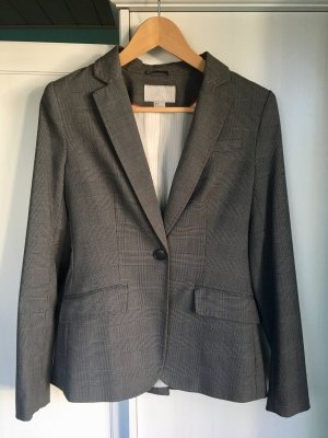 Blazer Business Look H&M Gr. 34 Kariert grau