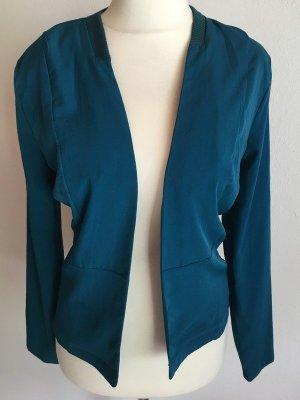 Jersey blazer petrol-cadet blauw
