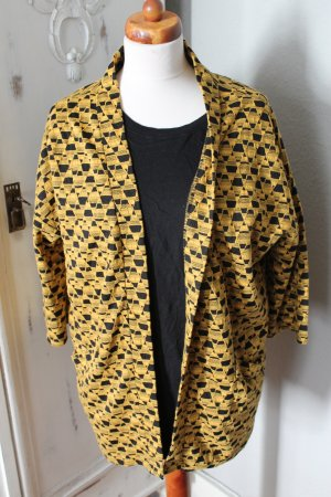 Urban Outfitters Boyfriend blazer zwart-goud Oranje Katoen