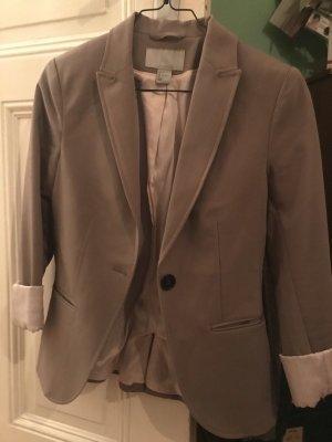 H&M Jersey Blazer grey brown-light pink