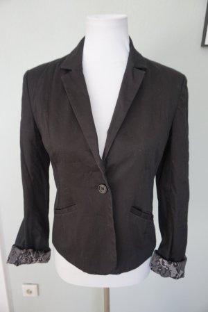 Clockhouse Blazer court noir coton