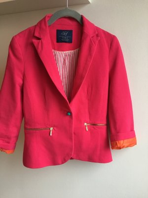 Blazer Color blocking Orange pink Türkis