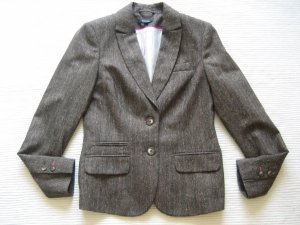 Comma Wool Blazer grey brown