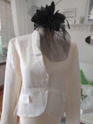 10 Days Tuxedo Blazer white-natural white mixture fibre