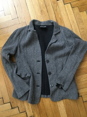 Emporio Armani Wool Blazer grey-black