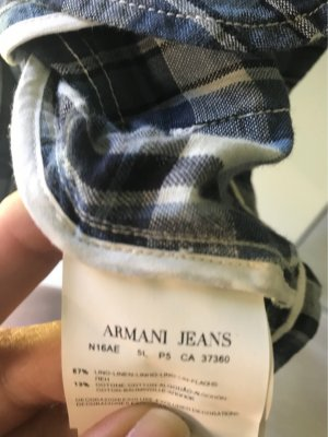 Armani Jeans Short Blazer dark blue