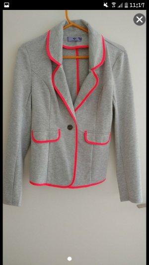 AJC Blazer grigio chiaro-rosa Cotone