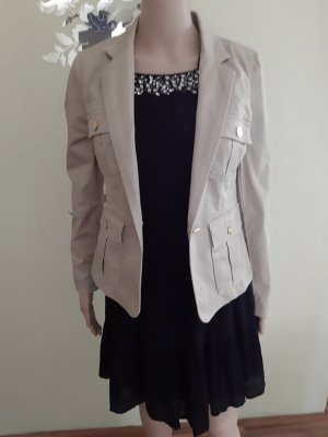 Mango Suit Denim Blazer sand brown