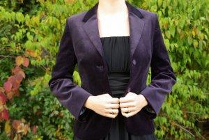 Blazer dunkel-violet Samt