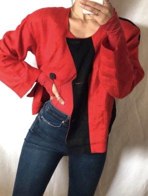 Blazer de esmoquin rojo-negro