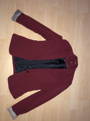 Bershka Blazer bordeaux-black