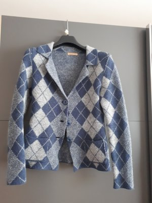 Knitted Blazer azure-steel blue