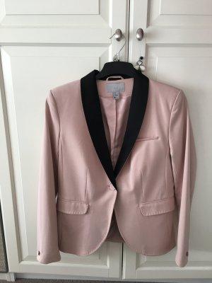 H&M Tuxedo Blazer dusky pink-black