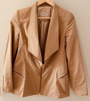 Blazer lungo color oro rosa Seta