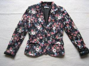blazer floral blumen neuwertig gr. s 36 -xs 34