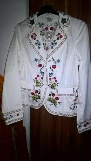 Madeleine Blazer unisexe blanc coton