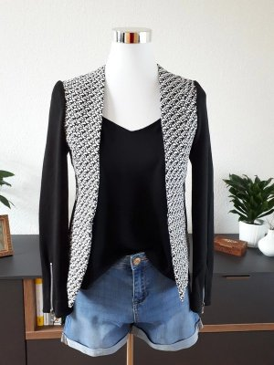 Ann Christine Short Blazer black-white
