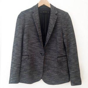 Blazer, gewebt, Zara, Größe S, grau/schwarz