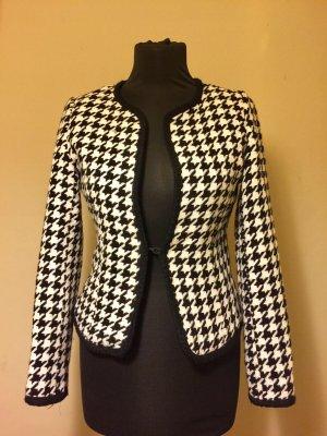 Tweed blazer wit-zwart