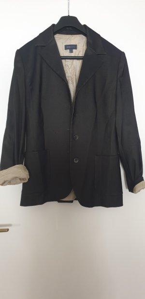 Mango Suit Lange blazer grijs-bruin