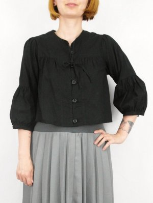 Blouse Jacket black cotton