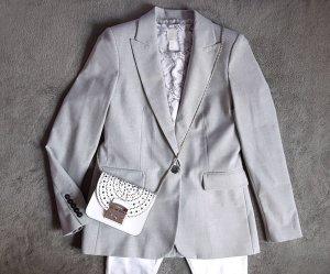 Mango Jersey Blazer grey-light grey