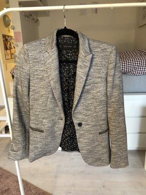 Blazer grau meliert patches Sweatblazer Zara Basic weich