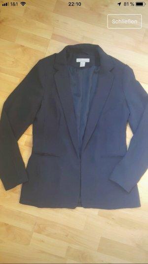 H&M Blazer largo azul oscuro