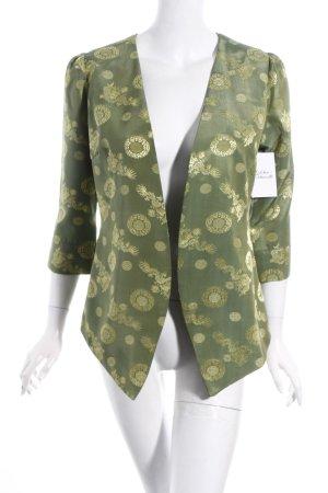 Blazer grüngrau-limettengelb abstraktes Muster extravaganter Stil