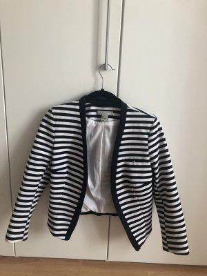 H&M Jersey Blazer azul oscuro-blanco
