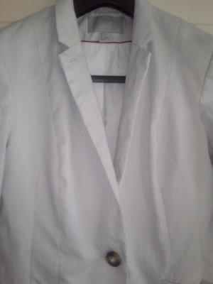 H&M Tuxedo Blazer white-azure