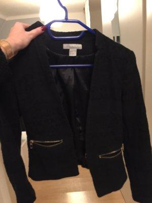 H&M Gebreide blazer zwart-goud