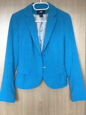 H&M Jersey blazer neon blauw-blauw