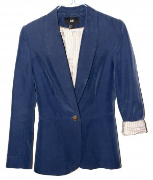 Blazer H&M Blogger Blau Streifen 34 XS