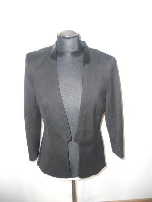 Blazer H&M Gr. 38 schwarz Lederdtails am KRagen