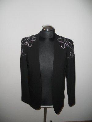 Blazer H&M Gr. 38 schwarz silber