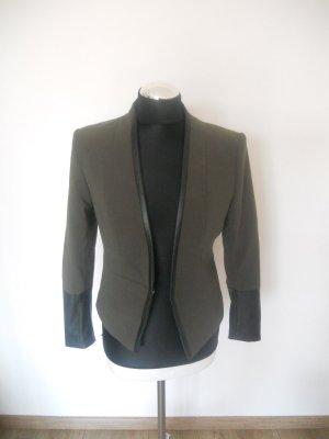 Blazer H&M khaki schwarz Gr. 38 / 36