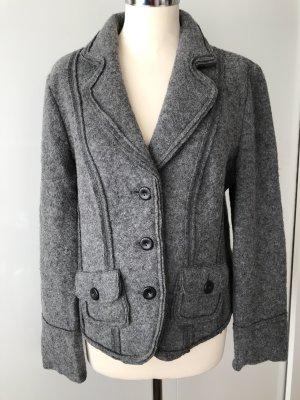 Heine Wool Blazer grey mixture fibre