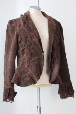 Blazer Herbst 100% Baumwolle romantisch Spitze Erdtöne Saint Tropez Gr. 38