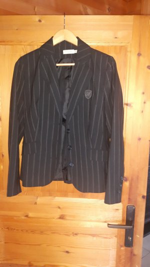 Bonaparte Blazer smoking nero-marrone Tessuto misto