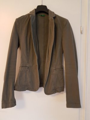 Blazer im Khaki Used Look