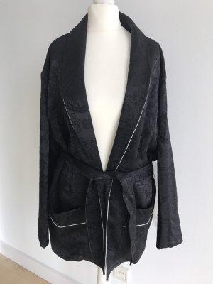 Blazer im Pyjamastil schwarz dG 36 S mit Gürtel NEU