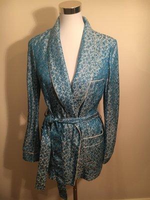 H&M Conscious Collection Blazer de esmoquin azul celeste-azul neón