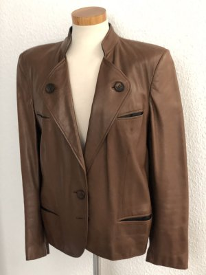 Aigner Leather Blazer brown leather